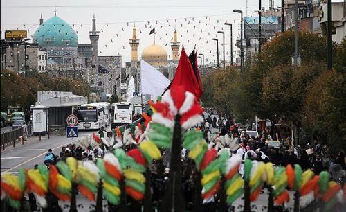 شور حسینی در مشهد الرضا، روز تاسوعا